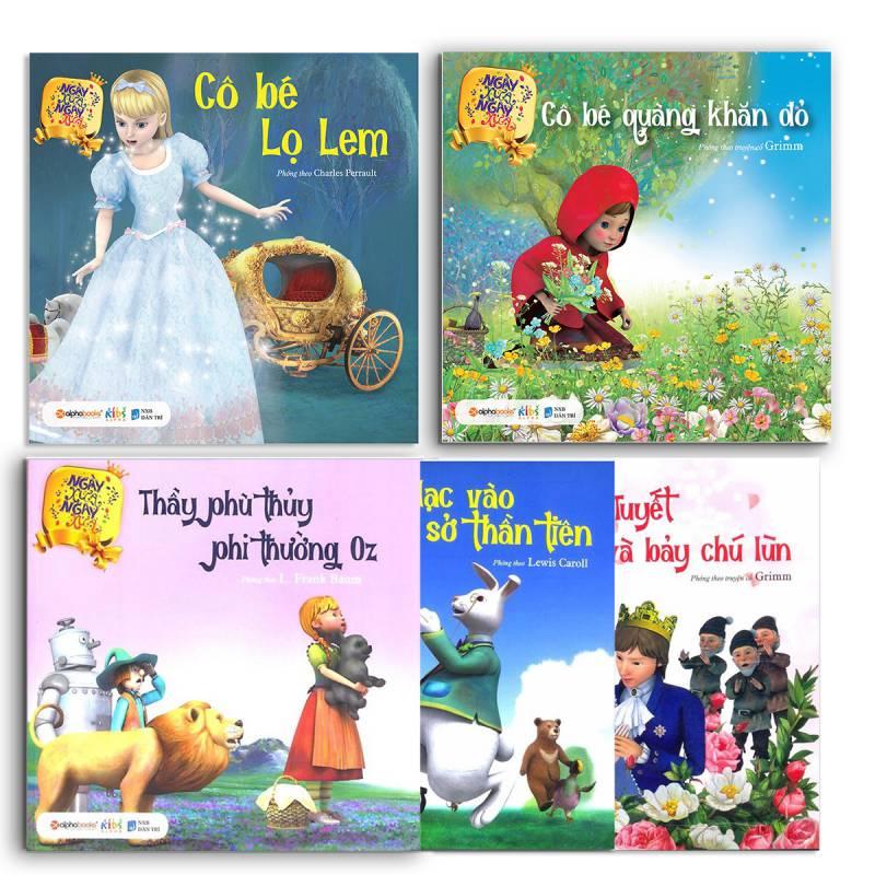 Bộ 5 cuốn truyển kể cho bé: Ngày xửa ngày xưa