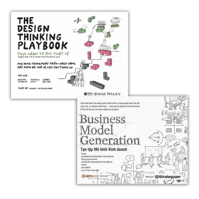 Combo sách kinh doanh: Thực hành tư duy thiết kế + Tạo lập mô hình kinh doanh