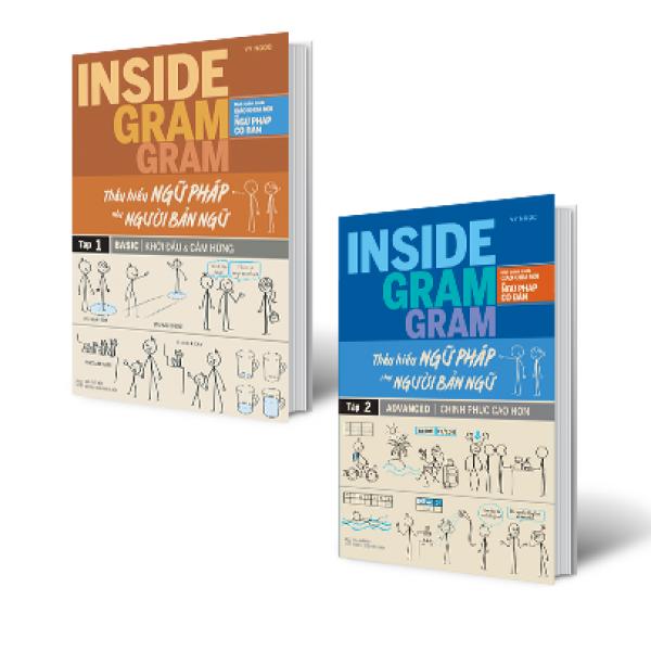 Combo Inside Gram Gram – Thấu hiểu Ngữ pháp như người bản ngữ - Tập 1 & 2