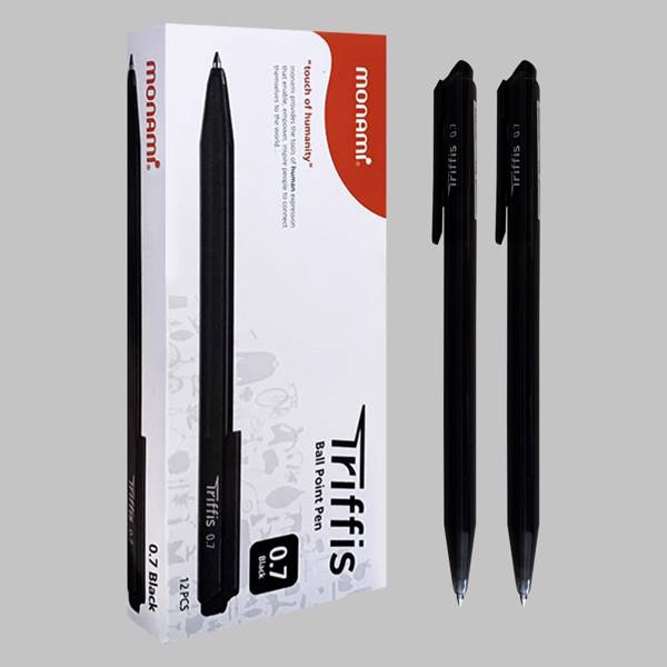 Bút Bi Dầu Monami Triffis 0.7mm - Mực Đen (Thái Lan)